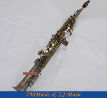 Antique Bronze Straight  Soprano saxophone Bb key to High F key and G Key
