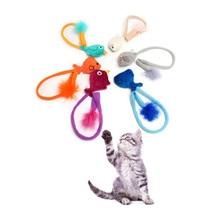 Домашние животные Кошки Тизер Игрушки Мышь Мыши Интерактивных Продуктов Для Домашних Животных Поставляет Животных Магазин Гатос Кошек Палкой Игрушка Для Котят QQM2070