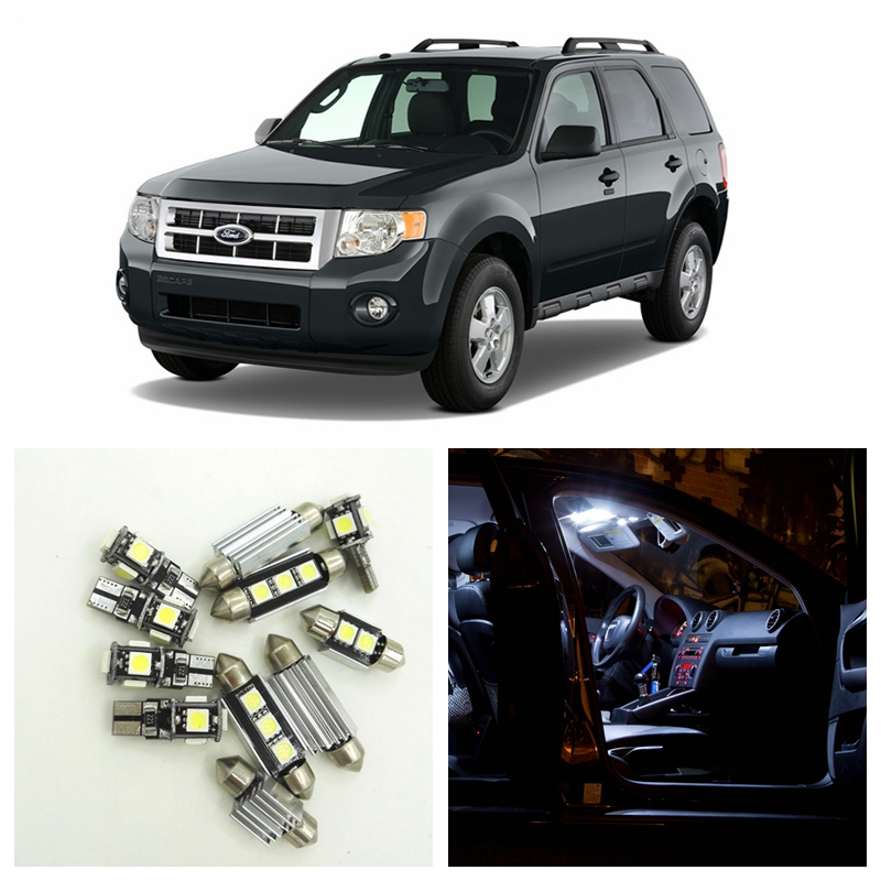 11Pcs White Car LED Light Bulbs Interior Package Kit For 2001 2002 2003 2004 2005 Ford Escape Map Dome Trunk License Plate light 762526 501 main board for hp pavilion 15 p day22amb6e0 laptop motherboard ddr3 am8 cpu