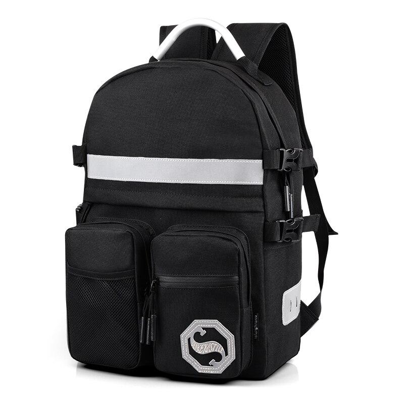 Hot 2017 New Arrival Fashion Black Men Backpacks Shoulder School Bags For Teenage boys Preppy Style
