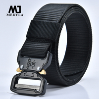 MEDYLA Nylon Belt Men Army Tactical Belts Man Military Waist Canvas Male High Quality Equipment Strap
