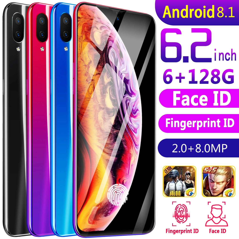 CHAOAI X23 6.2 Pouces Smart Téléphone Portable débloqué Mobile android 8.1 8 caméras HD double carte sim double veille 3g net smartphone - 2