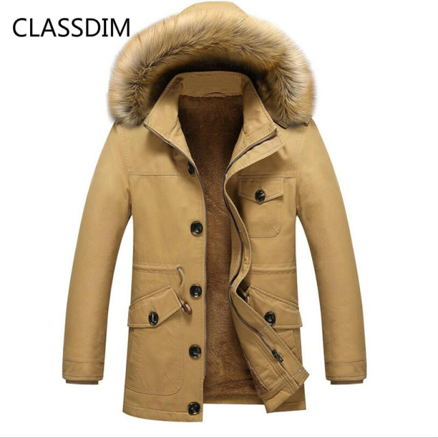 b1e5c7ec4 US $55.91 47% OFF|Aliexpress.com : Buy CLASSDIM Men Winter Warm Down  Jackets Good Quality Men Hooded Thicker Winter Coats New Male Wool Liner  Winter ...