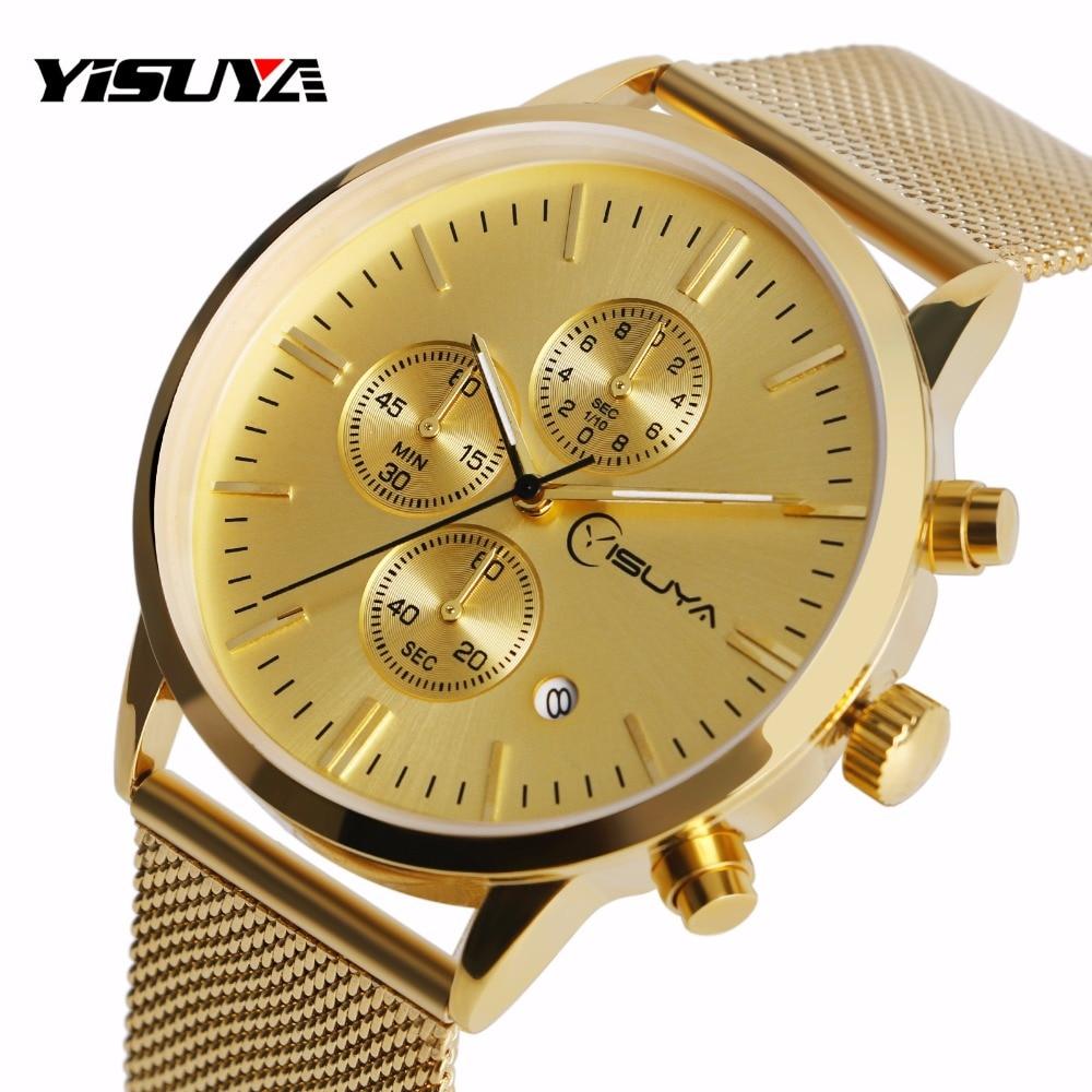 YISUYA Golden Hook Hebilla de Cuarzo Reloj de pulsera Cronógrafo de - Relojes para mujeres