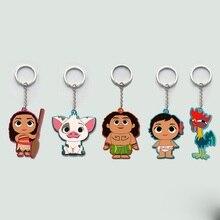 Movie Series Princess Moana Principessa Baby Maui Cute Cartoon Keychain Keyring Toy Figures For Kids Gift