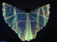 1 2 6m 2014 LED Sexy Costumes Fashion Belly Led Wings Isis Belly Dance Wings Luminous