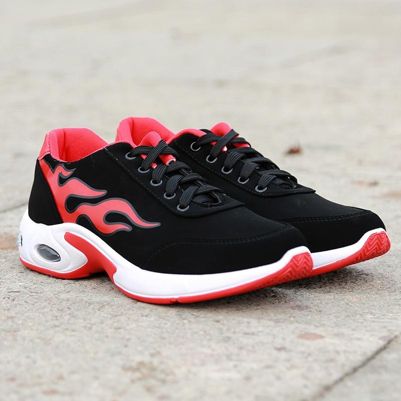 Retro Rendas Nova Quentes vermelho 2019 Preto Sapatos Casuais OCqEwn5w