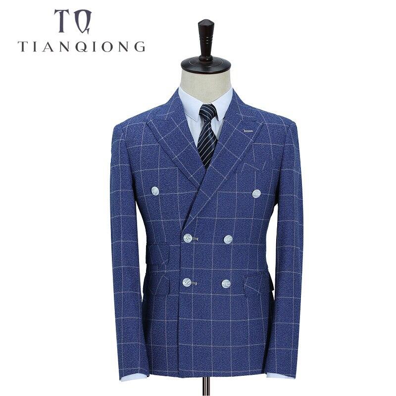 TIAN QIONG Marke 2018 Neue Ankunft Hohe Qualität Mode Zweireiher Anzüge Männer, streak herren Anzug, größe M 5XL, Jacke + Hosen + Weste-in Anzüge aus Herrenbekleidung bei  Gruppe 3