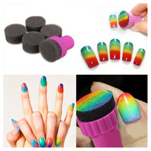 Nail Art Sponge,5pcs/set Creative Gradient Color Change Stamping Kit,DIY Magic Stylish Design Accessories, Tools