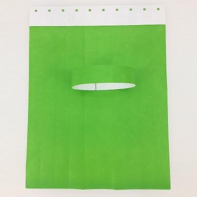 79709ad2c8cd 100 piezas adulto liso COLOR rojo verde Tyvek pulseras de papel tipo ...