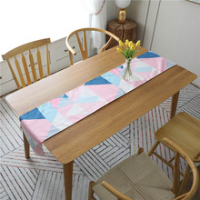 Nordic Geometric Print Table Flag Modern Fashion Tablecloth Rectangular Placemat Cover for Wedding Party Home Decoration