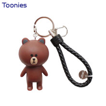 Cute Bear Rabbit Creative Car Keychains Cartoon Key Chain Cars Key Ring Keyring Very Decoration Smart Fortwo Ornaments Chaveiros