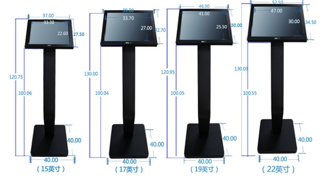 15''17''19''22''42 Inch Stand Alone  Floor Standing Signage Totem Lcd Advertising Display Player All In One Pc Wifi Touch Pc