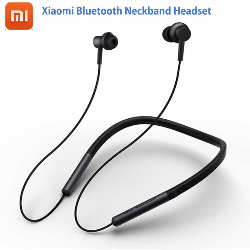 2018 Newest Xiaomi Bluetooth Neckband Headset Hybrid Dual Driver apt-X Support AAC Codec Skin Care Light Sports Leisure