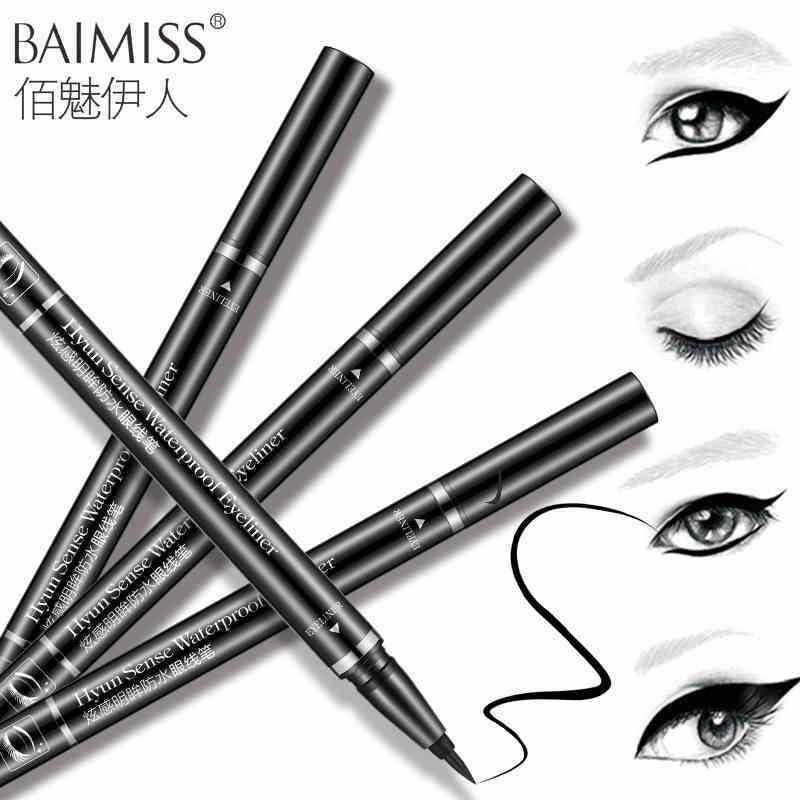 BAIMISS Eyeliner lack Liquid Eyeliner Long-lasting Waterproof Eye Liner Pencil Pen Nice Makeup Cosmetic Tools