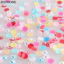 ZOTOONE 1000 шт цветок камни Flatback клей на смоле стразы кристаллы Красочные Стразы для ногтей для одежды аппликация из страз