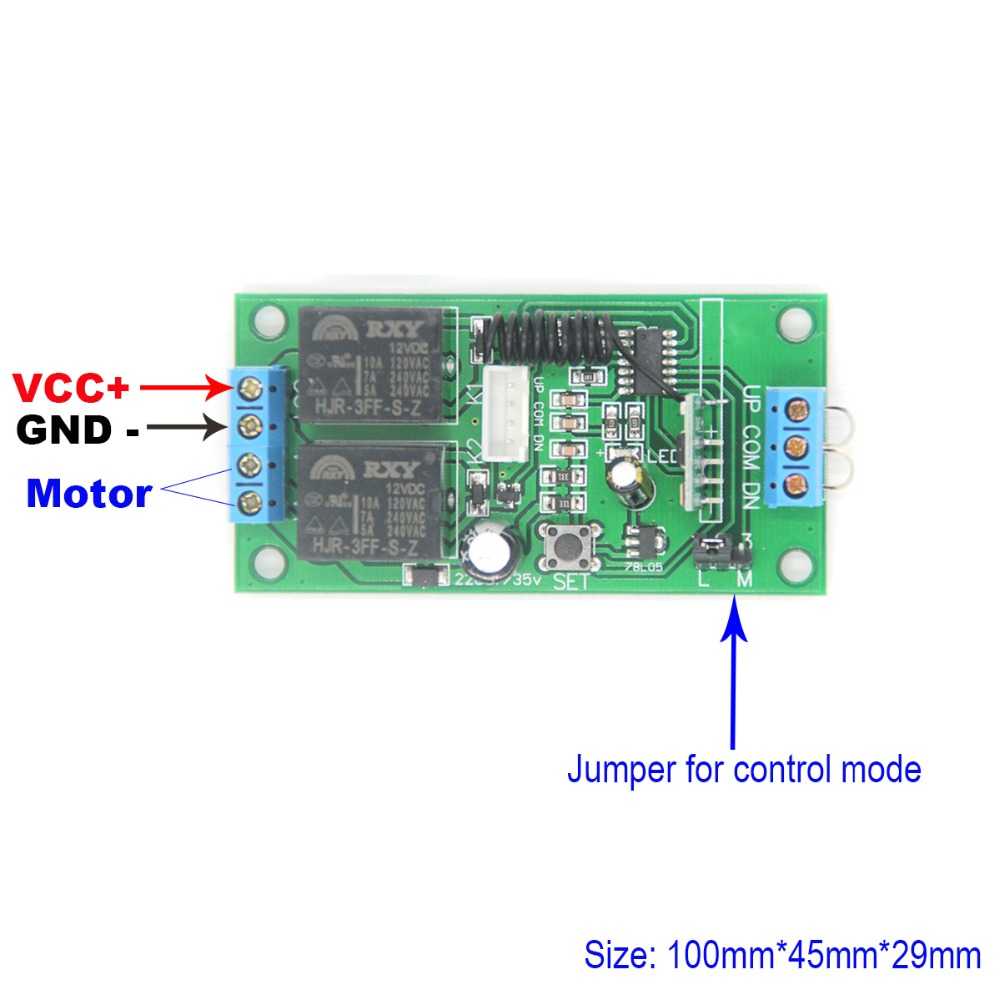 Dc Motor Control Radio Switch Remote Direction Forward And Reverse Circuit Controller 12v Up Down In Switches From Lights Lighting
