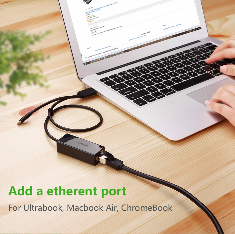 Ugreen OTG Ethernet Micro USB 2.0 to RJ 45 Network Adapter 10/100Mbps for Nintend Switch Tablets Android Phone OTG Ethernet