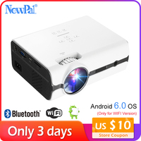 Newpal LED Projector 3D Android Projector Mini 1080p Home Cinema Beamer (Support DLNA,SD Card,HDMI,VGA)With WIFI TV Tuner U45
