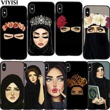 Phone Case For iPhone 7 case iPhone xr X XS MAX 8 6 6S Plus 5 5s SE Hijab Girl Muslim Islamic Gril Eyes Arabic Etui Funda Coque babaite muslim islamic gril eyes luxury hybrid phone case for iphone 8 7 6 6s plus x xs max 10 5 5s se xr coque shell