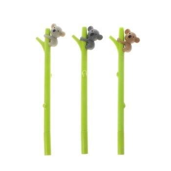 1pc 0.5mm Cute Cartoon Fun Koala black Gel ink Roller Ball Point Pen Gifts Color Random delivery