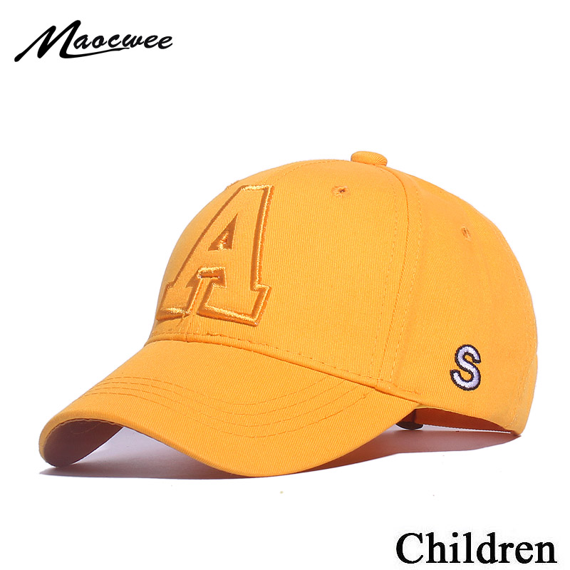 2019 Child Hats Kids Snapback Baseball Cap With Letter Embroidery Funny Hats Spring Summer Hip Hop Boy Hats Sun Caps Bones