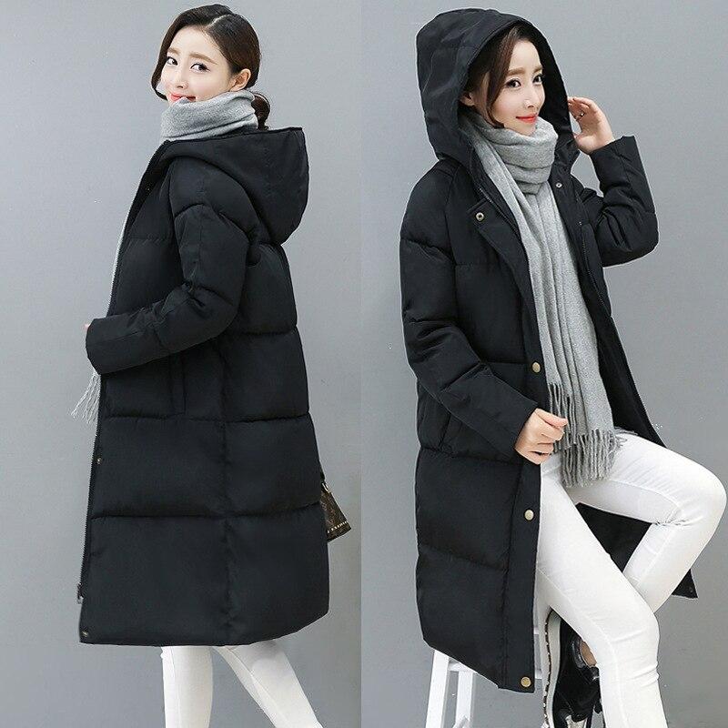 Casual Long Coats Winter Women   Parkas   Streetwear Cotton Female Jackets Overcoat Ladies Packet Warm Coat Women Winter   Parka   MDR16