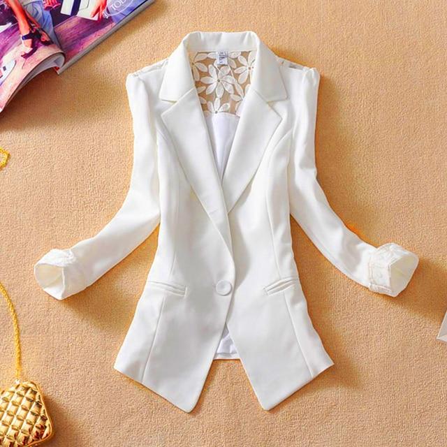 2017 Новый Женский короткий тонкий дизайн костюм пиджак элегантный три четверти рукав тонкий верхняя одежда женщин случайных летом куртка