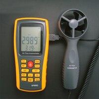 0-45 M/S Digitale Anemometer Windsnelheid Air Volume Omgevingstemperatuur Tester Met USB Interface