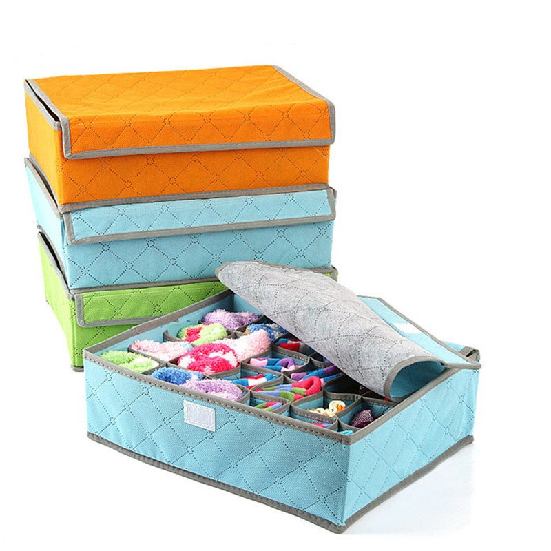 Amazing 2Pcs/lot Underwear Ties Socks Drawer Closet Organizer Bamboo Charcoal Woven  Storage Box Fit For Collection 7/16/24 Lattice In Storage Boxes U0026 Bins From  Home ...