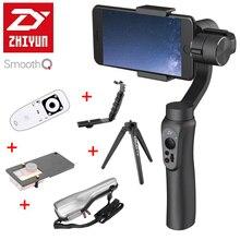 В наличии Zhiyun гладкой Q 3 оси ручной смартфон Gimbal стабилизатор VS Zhiyun гладкой III модель для iPhone 7 плюс Samsung S 7 S6