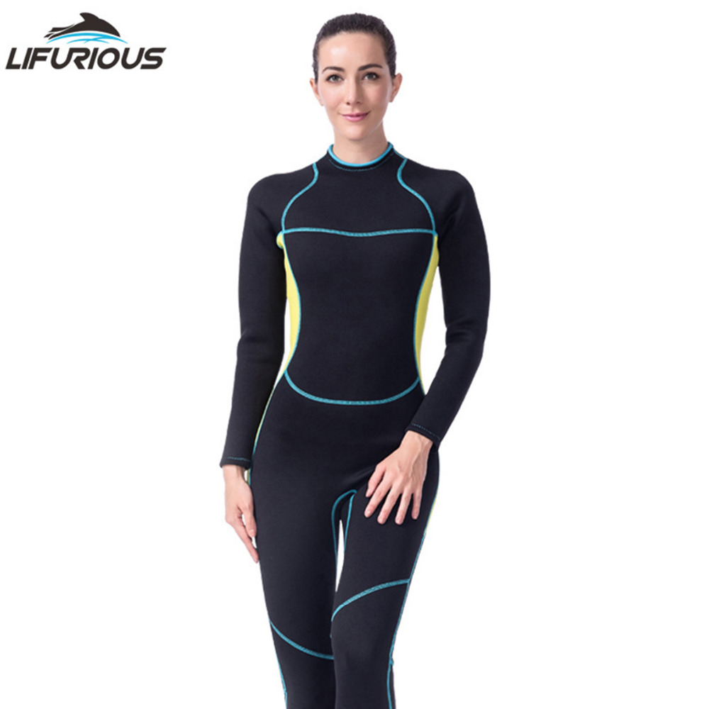 5c7a2d1f803f6 Neoprene Wetsuit Women long-sleeved diving suit One Piece Swimsuit  Spearfishing Women Wetsuits Surfing Swimwear Wetsuit - aliexpress.com -  imall.com