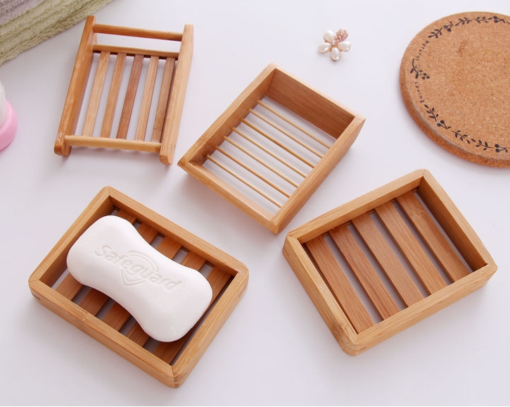 Natural Bamboo Wooden Soap Dish Wooden Soap Tray Holder
