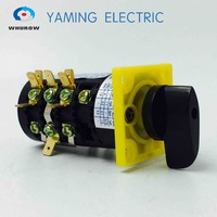 Manufacturer 3 Position Change Over Cam Rotary Switch HZ5B Series 4 Pole 20A 380V Control Motor