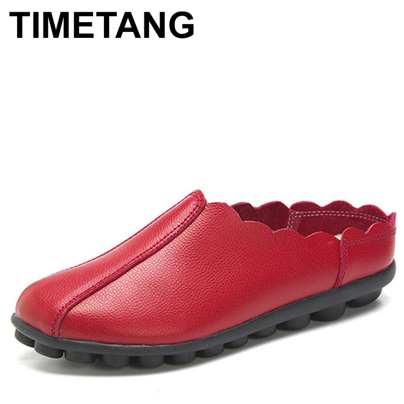 TIMETANG Women Flats Shoes genuine leather Female casual shoes Ladies ballet Flower Breathable Soft non-slip sole Summer Shoes summer women ballet flats genuine leather shoes ladies soft non slip casual shoes flower slip on loafers moccasins zapatos mujer