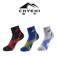Women Sports Socks (3 Pairs/lot) CHYEHI W007 Quick Dry 78% Cotton Outdoor Climbing Hiking Socks 2 pairs men s breathable outdoor socks hiking sports socks climbing socks s015