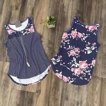 ФОТО women tank crop top cropped floral striped splicing patchwork o-neck casual tops t-shirts t-shirt 2017 free shipping