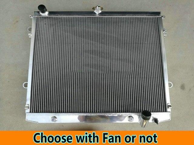 Aluminum Radiator & FAN For Toyota Land Cruiser J200/Roraima/Lexus LX570 LX 570 MK3 200 Series 3UR-FE V8 5.7L 2007-ON