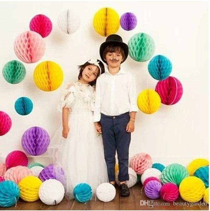 50 teile / los 30 cm Durchmesser DIY Papier Waben Blume Ball Hochzeit - Partyartikel und Dekoration - Foto 4