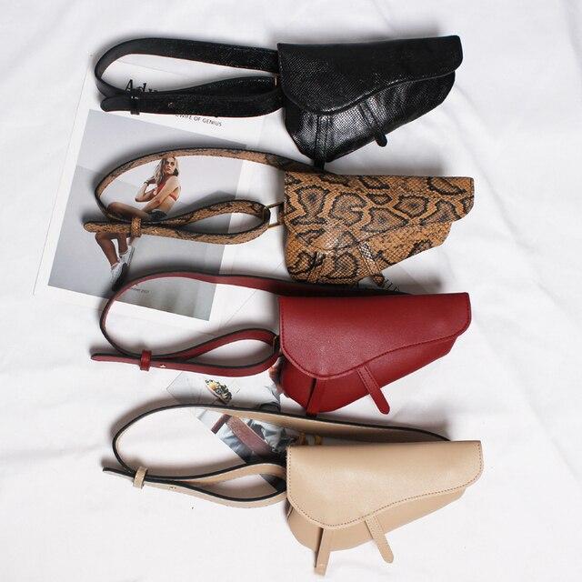 Женская поясная сумка с змеиным узором, поясная сумка из искусственной кожи, модная женская сумка высокого качества
