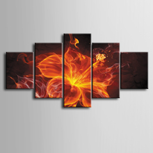Wholesale 5 pieces / set of Abstract sparks wall art for decorating home Decorative painting on canvas framed /ZT-3-26