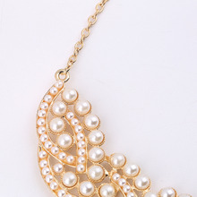 Simulated-Pearl Choker Pendant Necklace