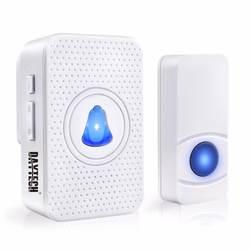 Daytech Беспроводной дверной звонок 55 мелодий IP55 Водонепроницаемый Кнопка светодио дный индикатор 0-110dB Chime Кольцо Дверной звонок DB05