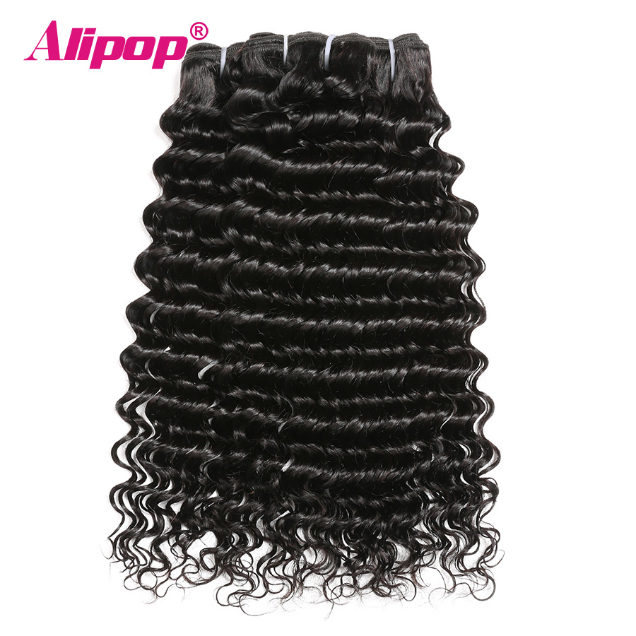 Deep Wave Bundles Brazilian Hair Weave Bundles Alipop 8-28 Inches Hair Extensions Remy Human Hair Bundles 4 3 1 Bundles Deals