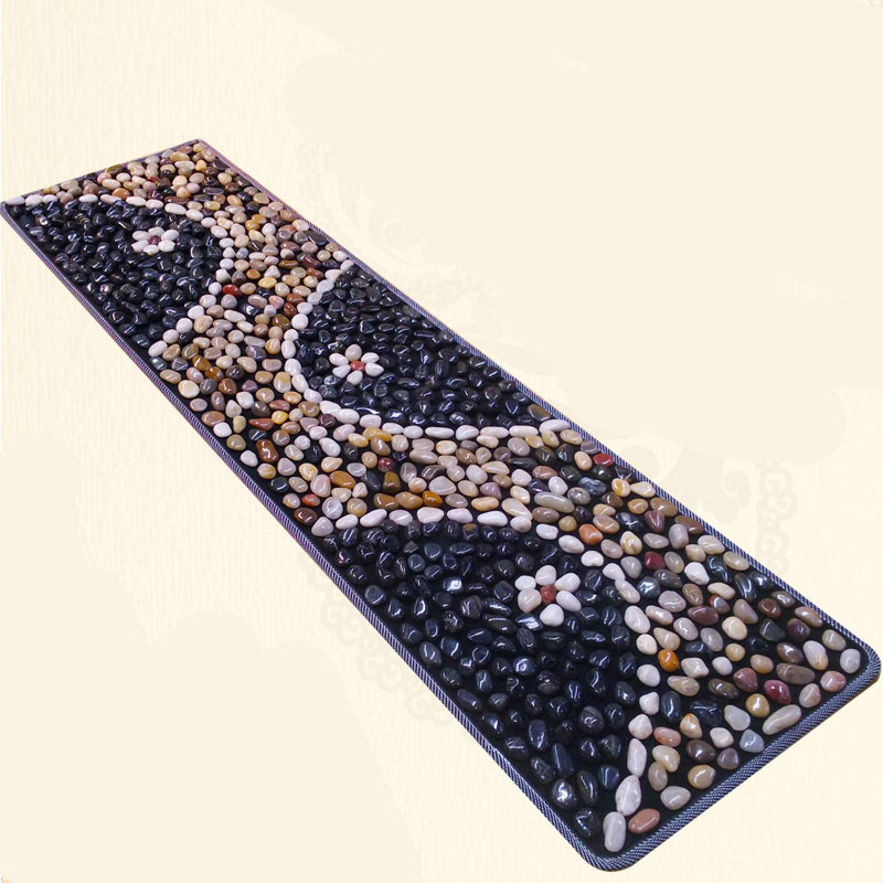 DK08 Acupuncture Cobblestone Colorful Foot Reflexology Walk Stone Square Foot Massager Cushion for Relax Body цены