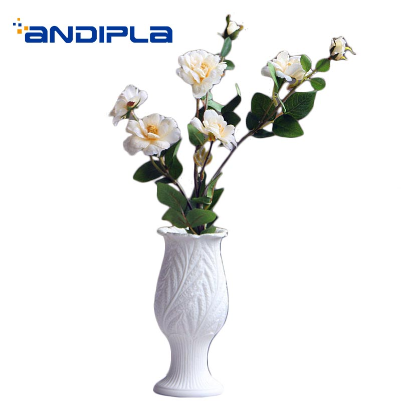 Creative White Ceramic Modern Artificial Flower Vase