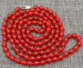 "wholesale good New Beautiful 6mm Brazil red  Beads Necklace 36 ""AA"