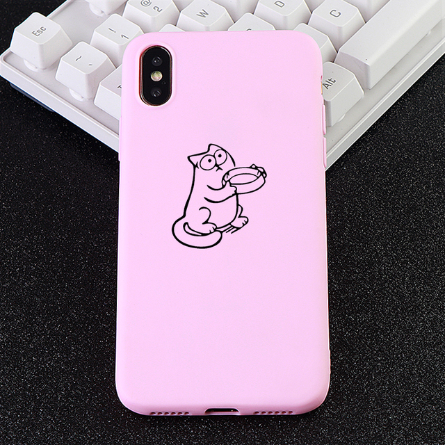 Cat Printed Silicone Case for Cellphone