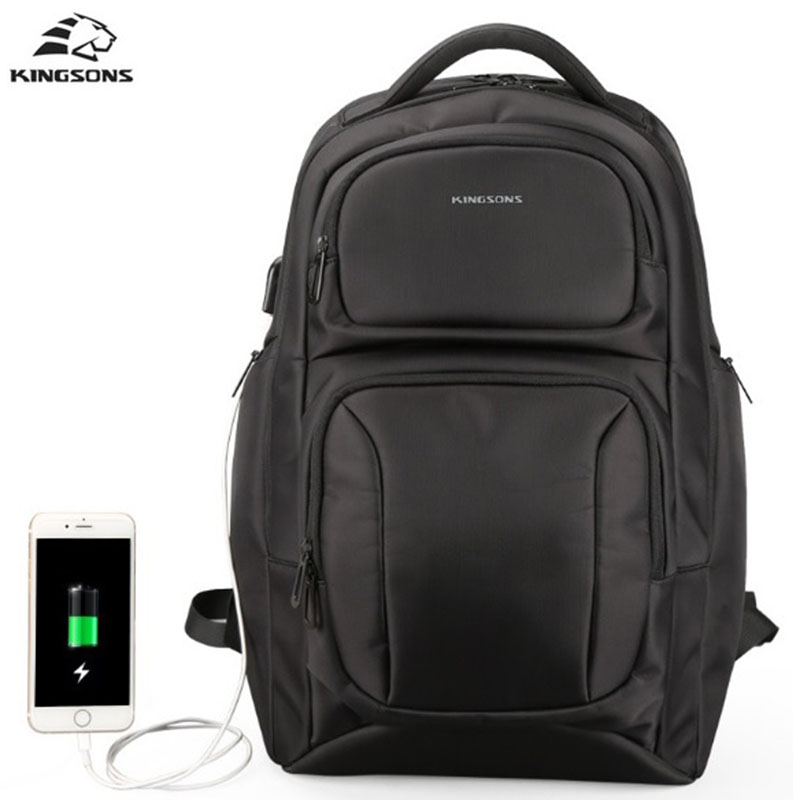цены Kingsons Men Backpack Big School Bags For Teenagers High-Capacity USB Charge 15.6 inch Anti-Seismic Backpack Business Bags