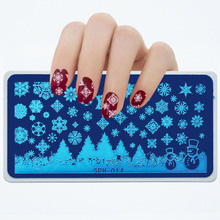 SPH-Series 6*12 cm Nail Stamping Plate Template Spider/Little Witch Pattern Art Stamp Image Stencils 1pc 014